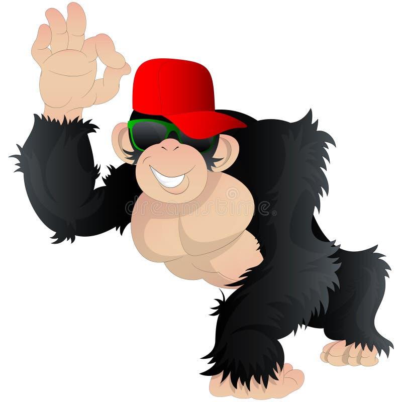 Kreskówki Śmieszna małpa ilustracja wektor