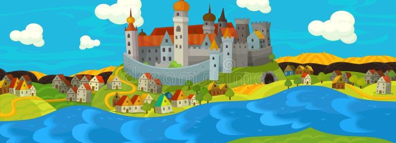 Kreskówki średniowieczna ilustracja ilustracji