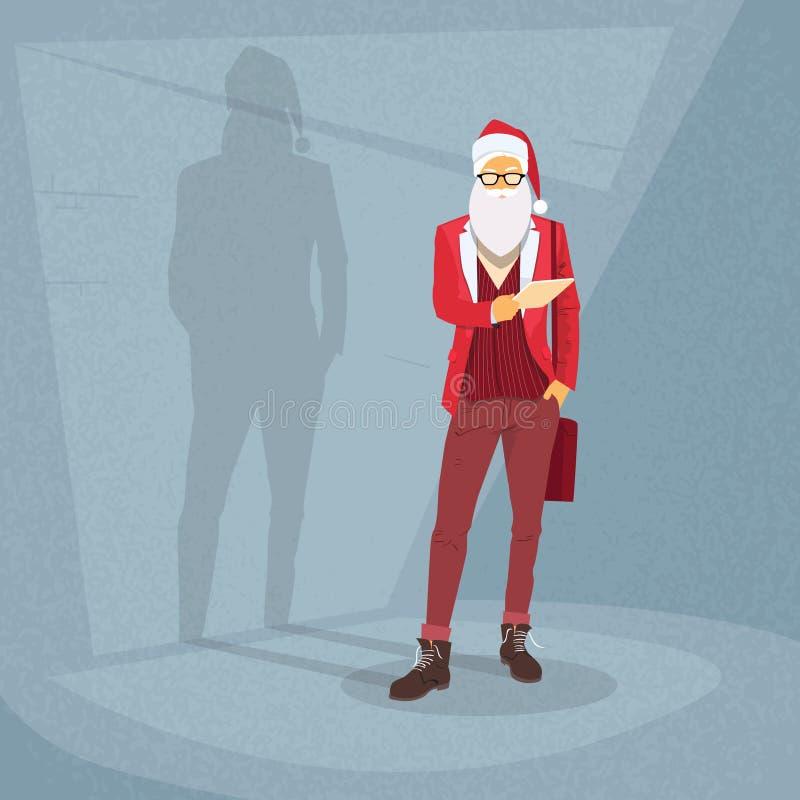 Kreskówki Święty Mikołaj modnisia stylu moda ilustracja wektor