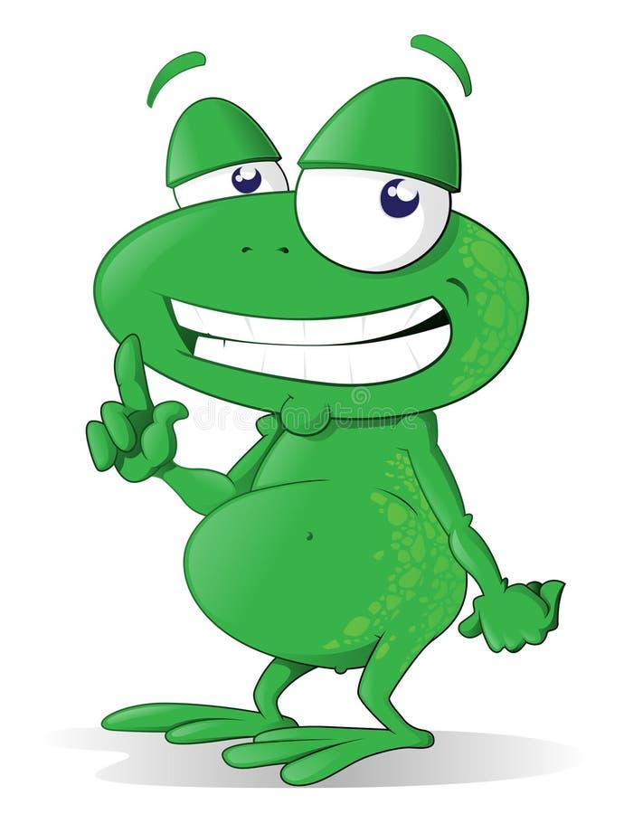 kreskówki żaba royalty ilustracja