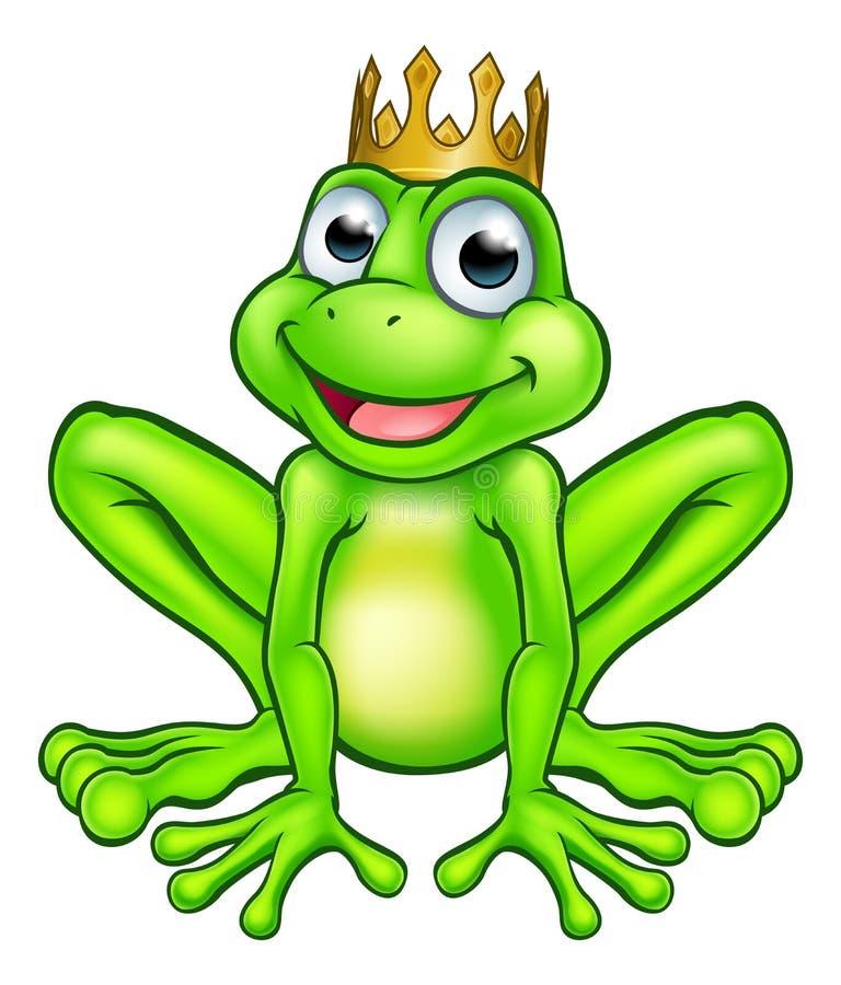 Kreskówki żaby książe royalty ilustracja