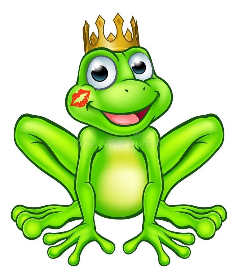 Kreskówki żaby książe buziak ilustracja wektor