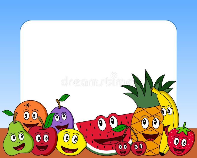 kreskówki (1) fotografia ramowa owocowa ilustracja wektor