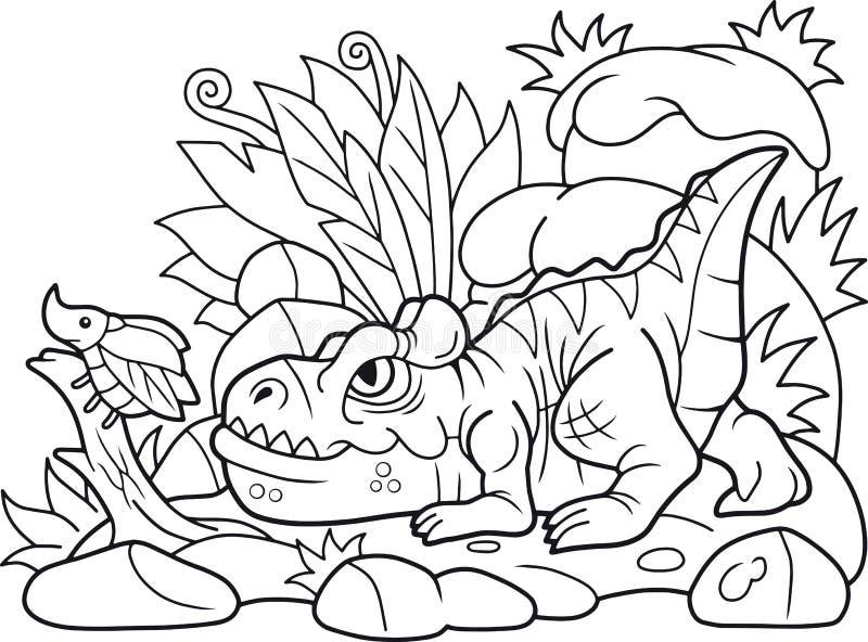 Kreskówki allosaurus tropi ścigi royalty ilustracja