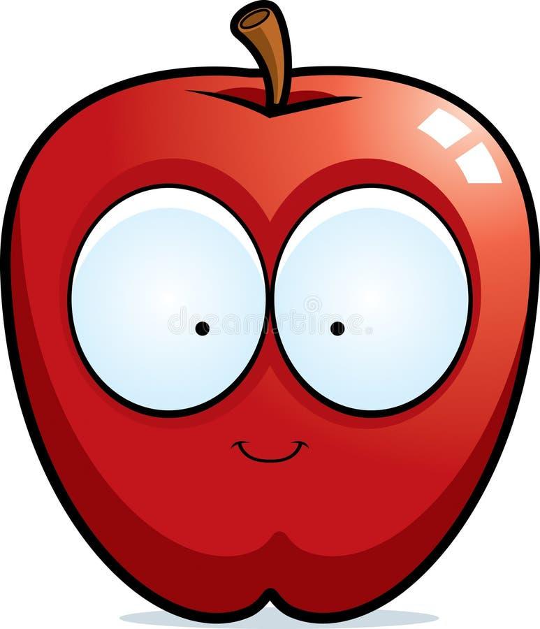 Kreskówki Apple ono Uśmiecha się ilustracji