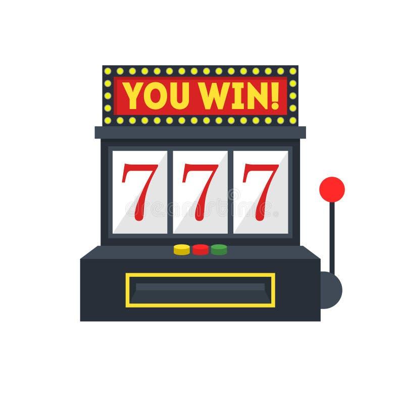 Kreskówki automat do gier z Jeden ręki Uprawiać hazard wektor royalty ilustracja