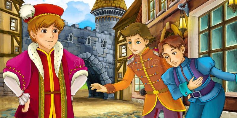 Kreskówki bajki scena royalty ilustracja