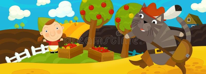 Download Kreskówki bajki sceny sad ilustracji. Ilustracja złożonej z fantazja - 53776139