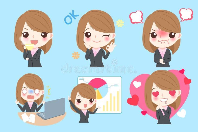 Kreskówki Biznesowa kobieta ilustracji
