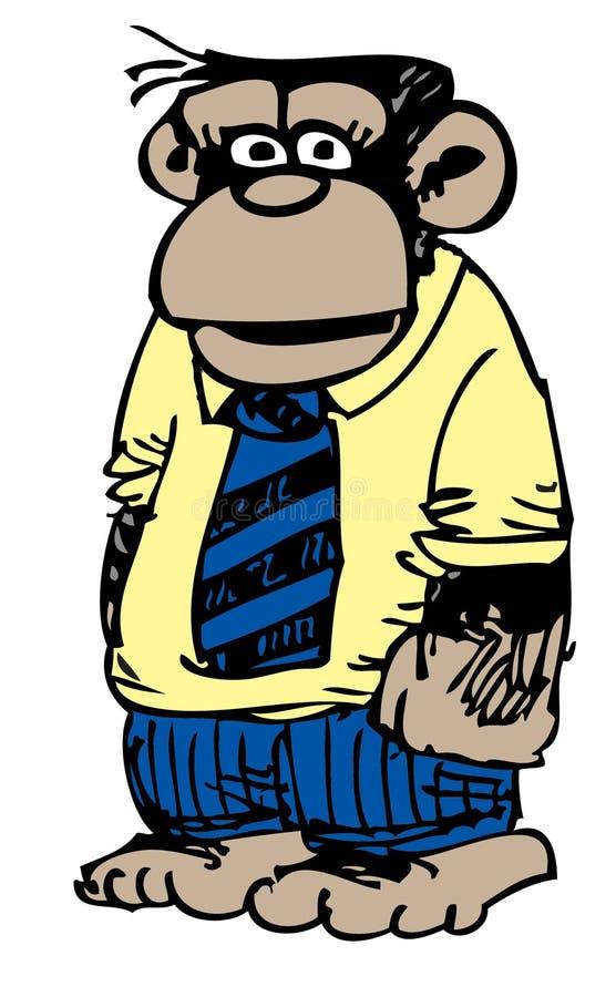 kreskówki biznesowa małpa royalty ilustracja