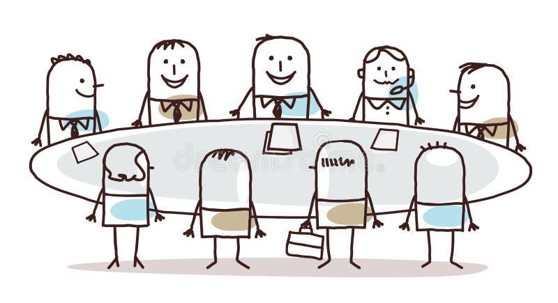 Kreskówki Biznesowa praca zespołowa Wokoło stołu ilustracji