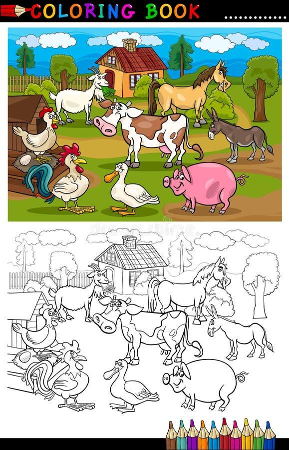 Kreskówki bydlęcia i gospodarstwa rolnego zwierzęta dla Barwić ilustracji
