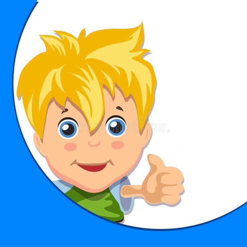 Kreskówki chłopiec daje ci aprobatom ilustracji