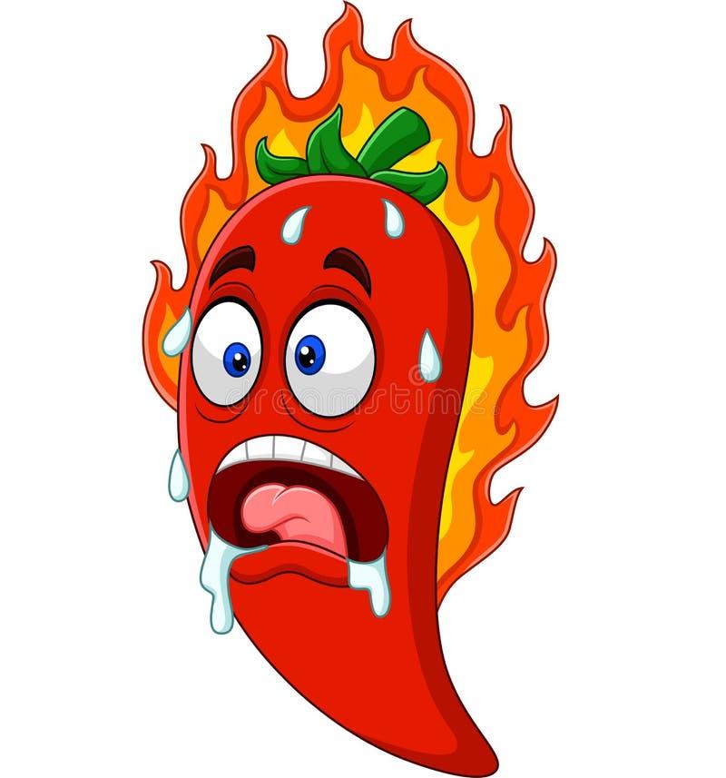 Kreskówki chili pieprz ilustracja wektor