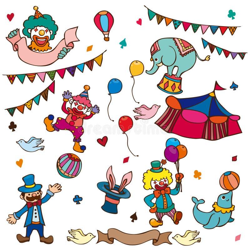 kreskówki cyrka ikona ilustracji