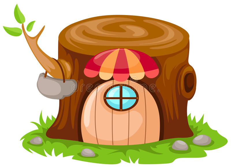 kreskówki czarodziejki domu bajka ilustracji