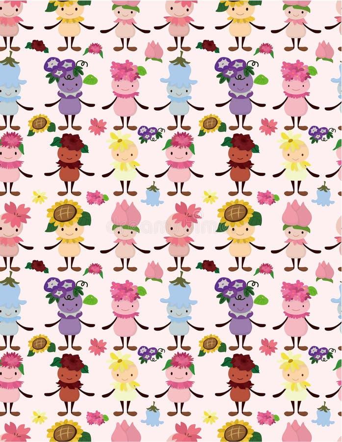 kreskówki czarodziejski kwiatu wzór bezszwowy ilustracji