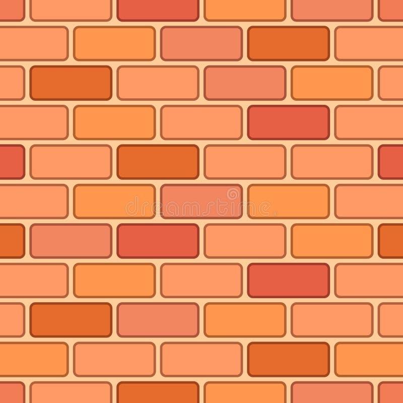 Kreskówki czerwonej cegły bezszwowy wzór royalty ilustracja