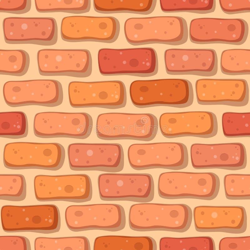 Kreskówki czerwonej cegły bezszwowy wzór ilustracji