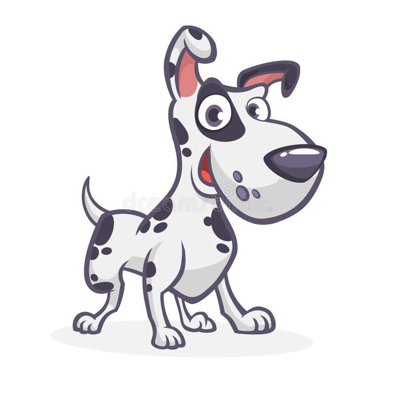 Kreskówki dalmatian śliczny pies również zwrócić corel ilustracji wektora ilustracja wektor
