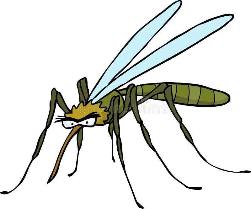 Kreskówki doodle komar ilustracji