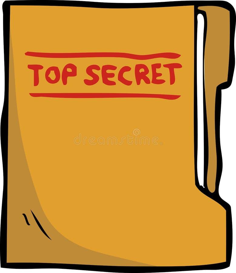 Kreskówki doodle sekretu falcówka ilustracji