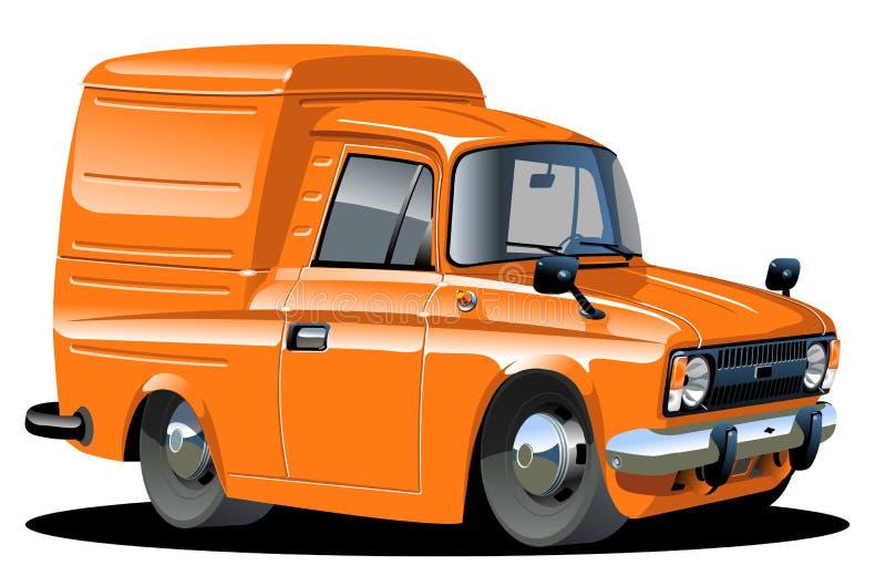 kreskówki doręczeniowego samochód dostawczy wektor royalty ilustracja