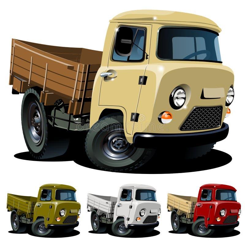 kreskówki doręczeniowej ciężarówki wektor ilustracji