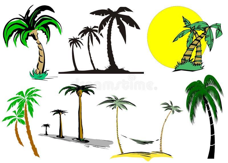 kreskówki drzewko palmowe ilustracja wektor