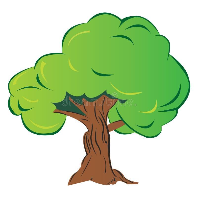 kreskówki drzewo royalty ilustracja