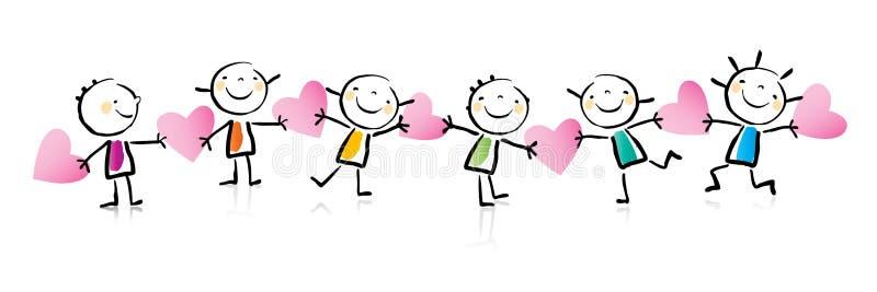 kreskówki dzień s valentine ilustracja wektor