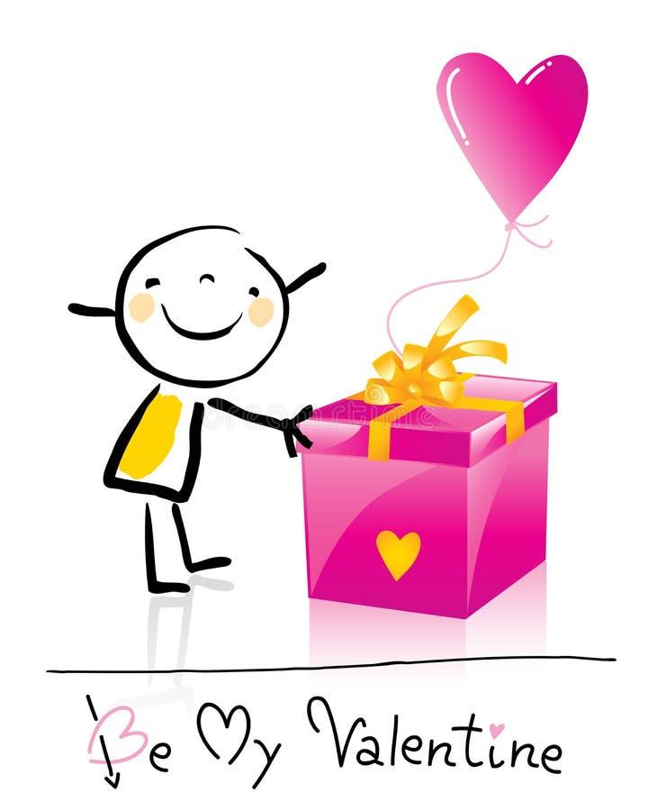 kreskówki dzień s valentine royalty ilustracja