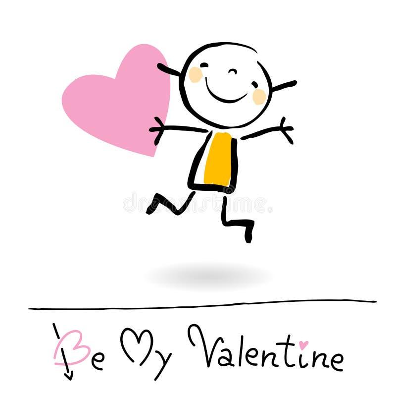 kreskówki dzień s valentine ilustracji