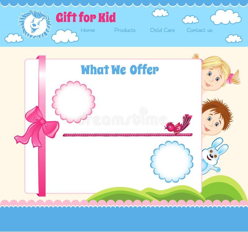 Kreskówki dziecka szablon ilustracji