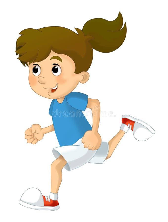 Kreskówki dziecka szkolenie - odosobniony ilustracji