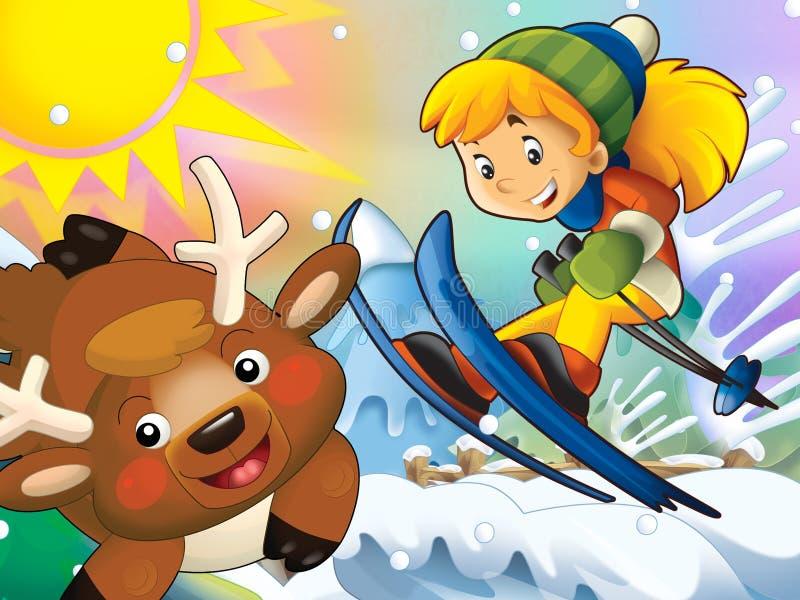 Download Kreskówki Dziecka Zjazdowy Skok Z Boże Narodzenie Charakterami - Ilustracji - Ilustracja złożonej z zabawa, ilustracje: 28974920
