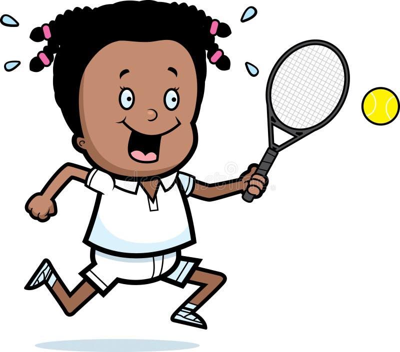 Kreskówki dziewczyny tenis ilustracja wektor