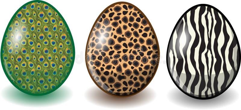 kreskówki Easter jajek szczęśliwy wektor ilustracja wektor