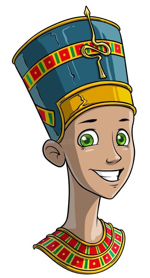 Kreskówki egipski princess w tradycyjnym odziewa ilustracji