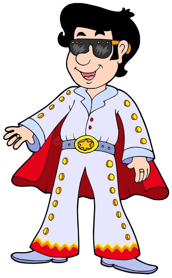kreskówki elvis parodysta royalty ilustracja