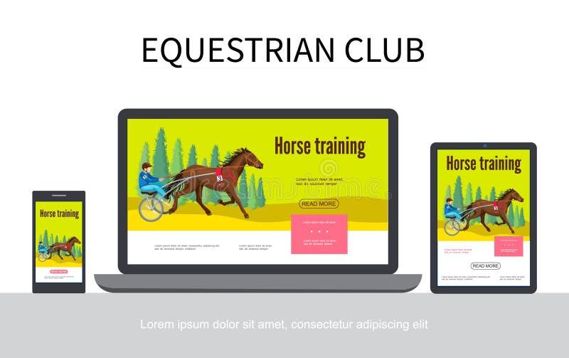 Kreskówki Equestrian sporta projekta Przetwórczy pojęcie ilustracja wektor