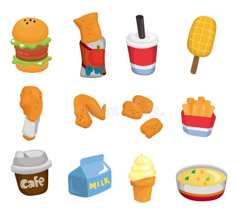 kreskówki fasta food ikona ilustracja wektor