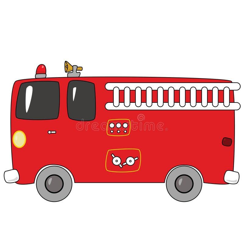 kreskówki firetruck ilustracja wektor