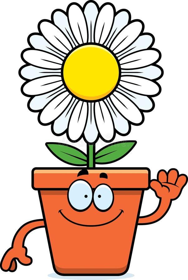 Kreskówki Flowerpot falowanie ilustracja wektor