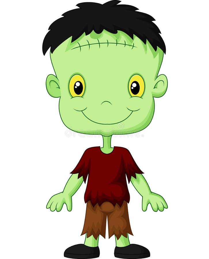 Kreskówki Frankenstein dzieciak royalty ilustracja