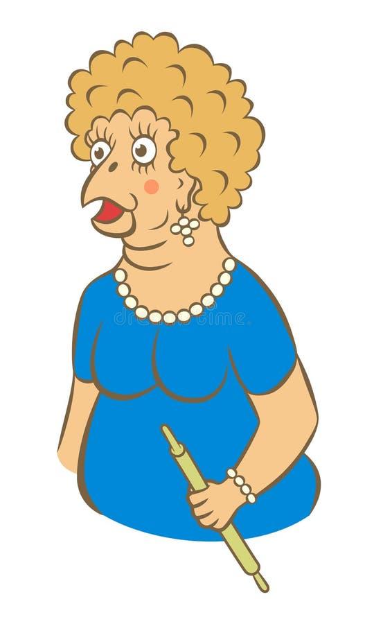 Kreskówki głupia kobieta ilustracji