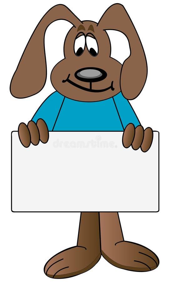 kreskówki gospodarstwa znaku psa royalty ilustracja