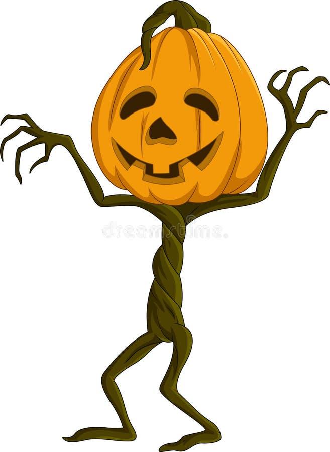 Kreskówki Halloween bania ilustracja wektor