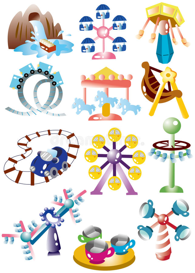 kreskówki ikony boiska set ilustracji