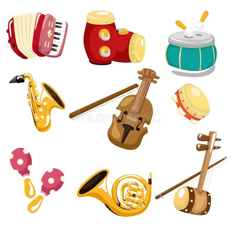 kreskówki ikony instrumentu musical ilustracja wektor
